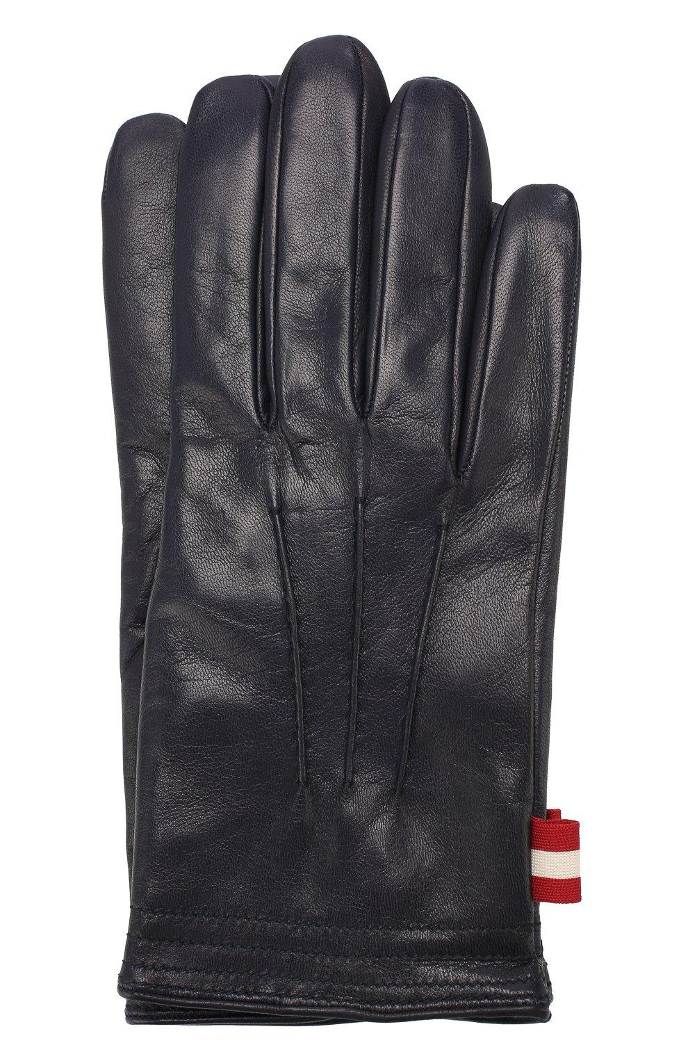 Мужские кожаные перчатки BALLY темно-синего цвета, арт. M9P0027L-1S016/750   Фото 1