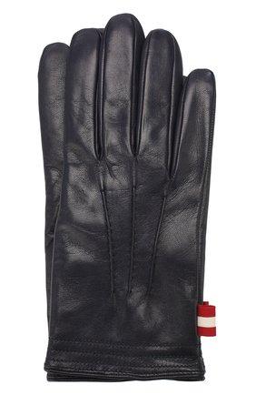 Мужские кожаные перчатки BALLY темно-синего цвета, арт. M9P0027L-1S016/750 | Фото 1