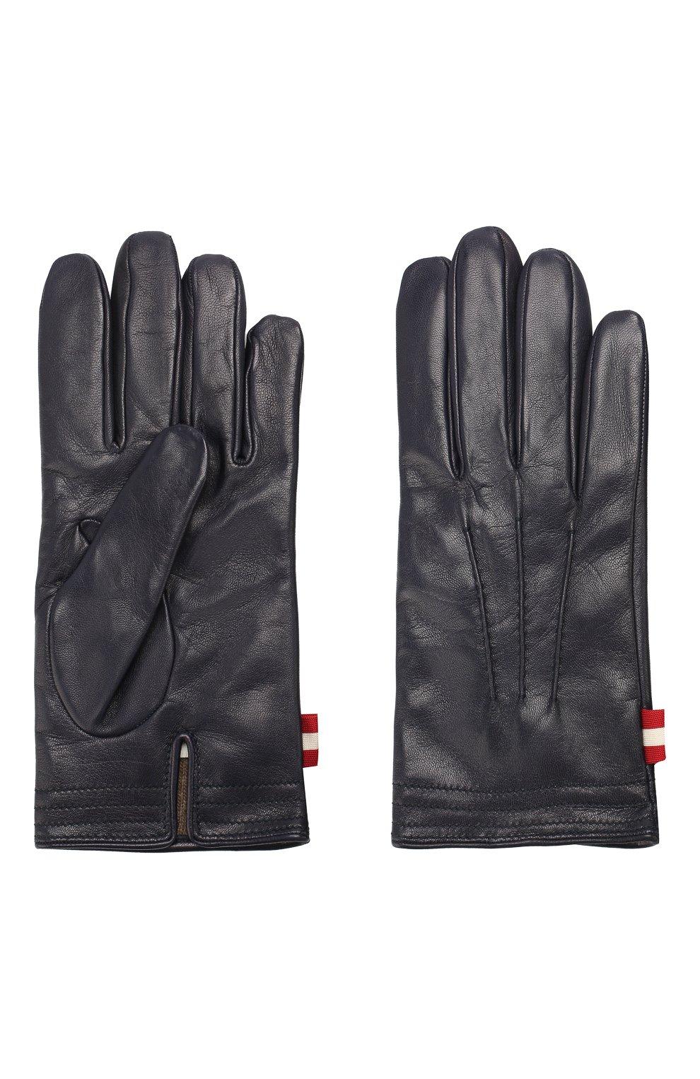 Мужские кожаные перчатки BALLY темно-синего цвета, арт. M9P0027L-1S016/750   Фото 2