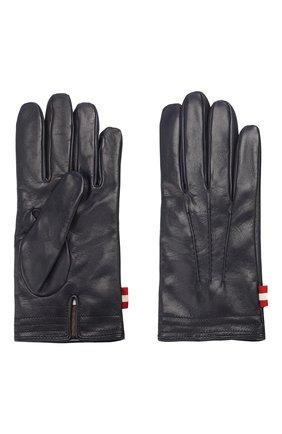 Мужские кожаные перчатки BALLY темно-синего цвета, арт. M9P0027L-1S016/750 | Фото 2