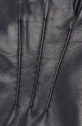 Мужские кожаные перчатки BALLY темно-синего цвета, арт. M9P0027L-1S016/750   Фото 3