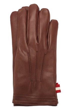 Мужские кожаные перчатки BALLY коричневого цвета, арт. M9P0027L-1S016/370 | Фото 1