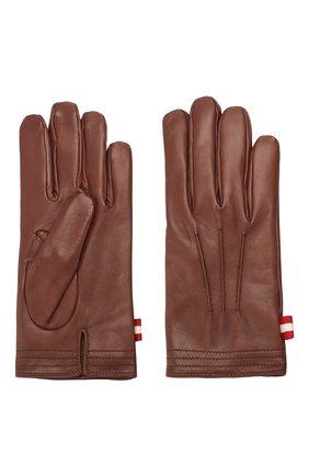 Мужские кожаные перчатки BALLY коричневого цвета, арт. M9P0027L-1S016/370 | Фото 2