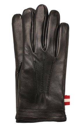 Мужские кожаные перчатки BALLY черного цвета, арт. M9P0027L-1S016/00 | Фото 1