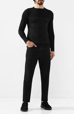Мужской джемпер из смеси шерсти и кашемира KNT темно-серого цвета, арт. UMM0028 | Фото 2
