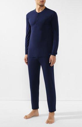 Мужская пижама ERMENEGILDO ZEGNA синего цвета, арт. N6H030890 | Фото 1