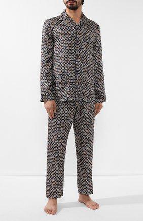 Мужская шелковая пижама ERMENEGILDO ZEGNA разноцветного цвета, арт. N6H000880 | Фото 1
