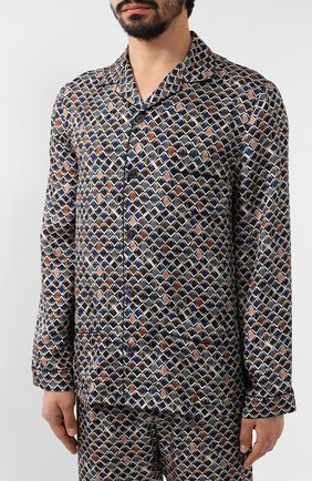 Мужская шелковая пижама ERMENEGILDO ZEGNA разноцветного цвета, арт. N6H000880 | Фото 2