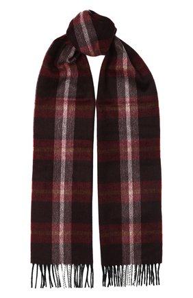 Мужской кашемировый шарф ANDREA CAMPAGNA бордового цвета, арт. 632349/SCARF | Фото 1