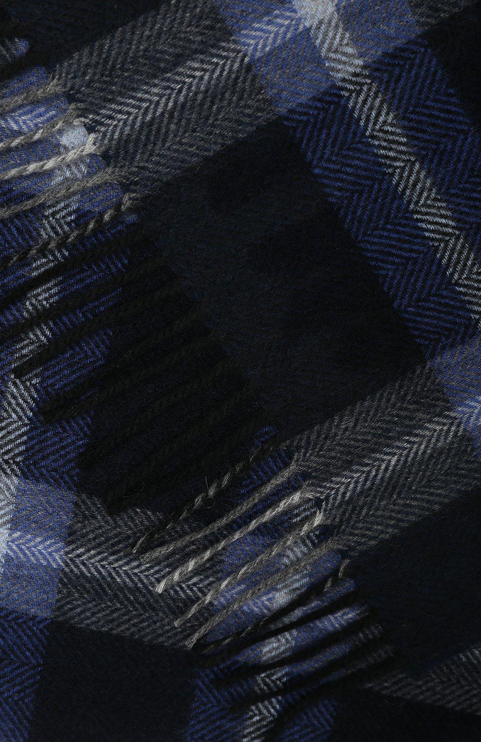 Мужской кашемировый шарф ANDREA CAMPAGNA темно-синего цвета, арт. 632349/SCARF | Фото 2
