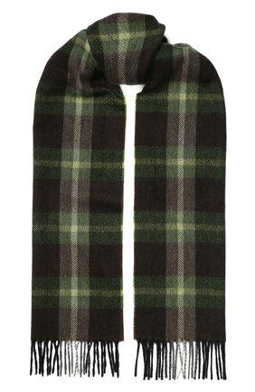 Мужской кашемировый шарф ANDREA CAMPAGNA темно-зеленого цвета, арт. 632349/SCARF | Фото 1