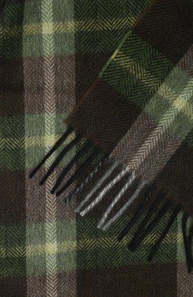 Мужской кашемировый шарф ANDREA CAMPAGNA темно-зеленого цвета, арт. 632349/SCARF | Фото 2