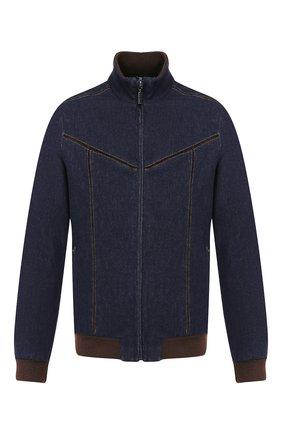 Мужская хлопковая куртка ZILLI темно-синего цвета, арт. MCS-00065-DECH1/R001 | Фото 1