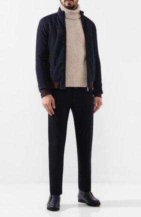 Мужская хлопковая куртка ZILLI темно-синего цвета, арт. MCS-00065-DECH1/R001 | Фото 2