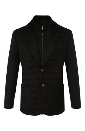Мужская шелковая куртка ZILLI черного цвета, арт. MNS-GCZ1-2-B6462/0001 | Фото 1