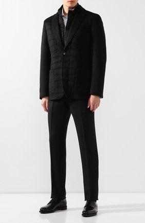 Мужская шелковая куртка ZILLI черного цвета, арт. MNS-GCZ1-2-B6462/0001 | Фото 2