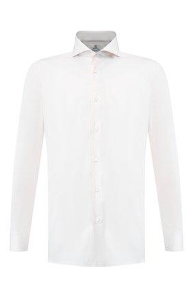 Мужская хлопковая сорочка LUIGI BORRELLI кремвого цвета, арт. EV08/FELICE/TS8766 | Фото 1