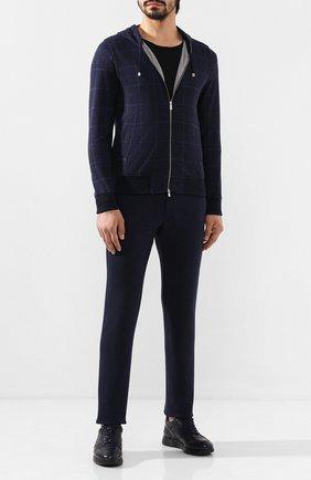 Мужской хлопковые брюки CAPOBIANCO синего цвета, арт. 7M722.UM00. | Фото 2