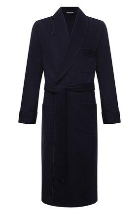 Мужской кашемировый халат ROBERTO RICETTI темно-синего цвета, арт. VESTAGLIA R0BE/CASH2301 | Фото 1