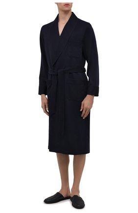 Мужской кашемировый халат ROBERTO RICETTI темно-синего цвета, арт. VESTAGLIA R0BE/CASH2301 | Фото 2