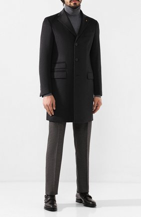 Мужской шерстяные брюки BERWICH темно-коричневого цвета, арт. VULCAN0/FA1553X | Фото 2