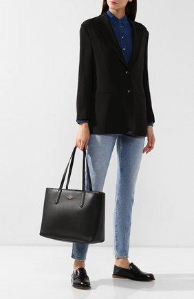 Женская сумка-тоут central COACH черного цвета, арт. 69424 | Фото 2