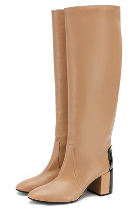 Женские кожаные сапоги CASADEI бежевого цвета, арт. 1S013N06THT0096A462 | Фото 1
