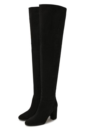 Женские замшевые ботфорты LE SILLA черного цвета, арт. 7097M080R3XLP0W | Фото 1