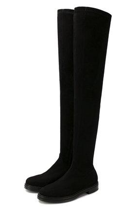 Женские замшевые ботфорты LE SILLA черного цвета, арт. 6213M020M2PPVST | Фото 1