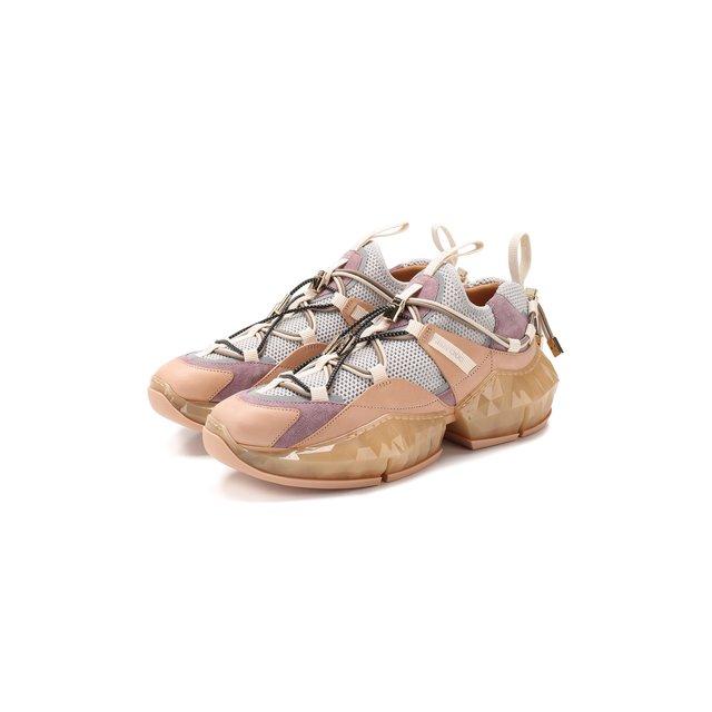 Комбинированные кроссовки Diamond Jimmy Choo — Комбинированные кроссовки Diamond