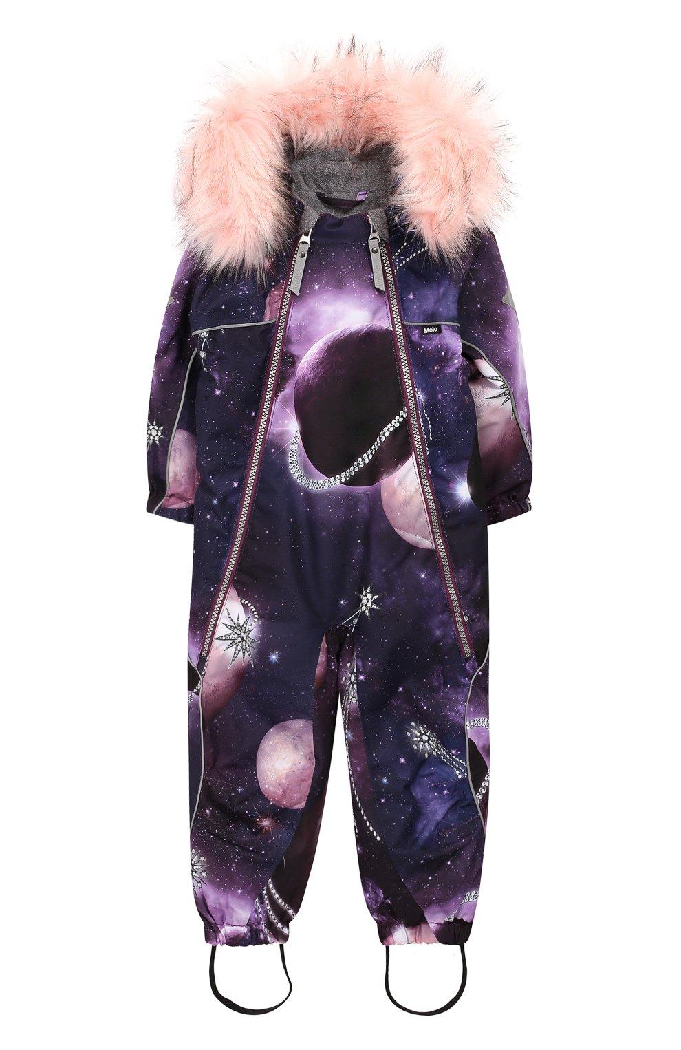 Детский комбинезон pyxis fur MOLO фиолетового цвета, арт. 5W19N102 | Фото 1