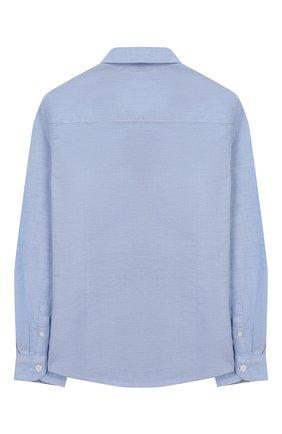 Детская хлопковая рубашка TOMMY HILFIGER голубого цвета, арт. KB0KB03968 | Фото 2