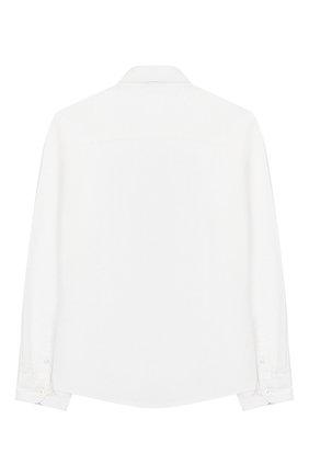 Детская хлопковая рубашка TOMMY HILFIGER белого цвета, арт. KB0KB03968 | Фото 2