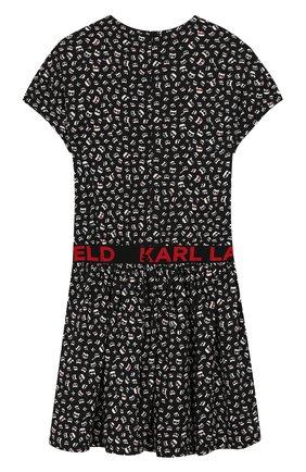 Детское платье KARL LAGERFELD KIDS черного цвета, арт. Z12130 | Фото 2