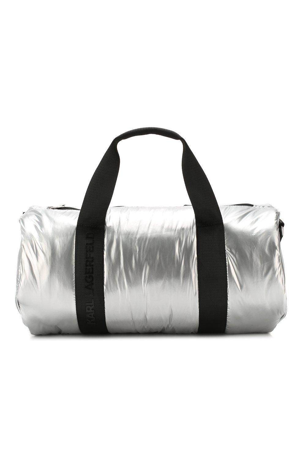 Детская сумка KARL LAGERFELD KIDS серебряного цвета, арт. Z10062   Фото 1