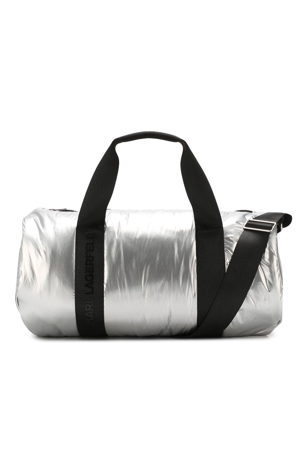 Детская сумка KARL LAGERFELD KIDS серебряного цвета, арт. Z10062   Фото 4