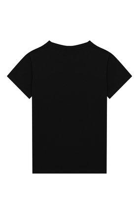 Детская хлопковая футболка BALMAIN черного цвета, арт. 6L8501/LC750/4-10 | Фото 2