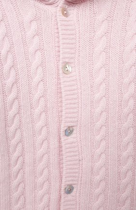 Детский кашемировый комбинезон с капюшоном LA PERLA розового цвета, арт. 59975/1M-12M | Фото 3