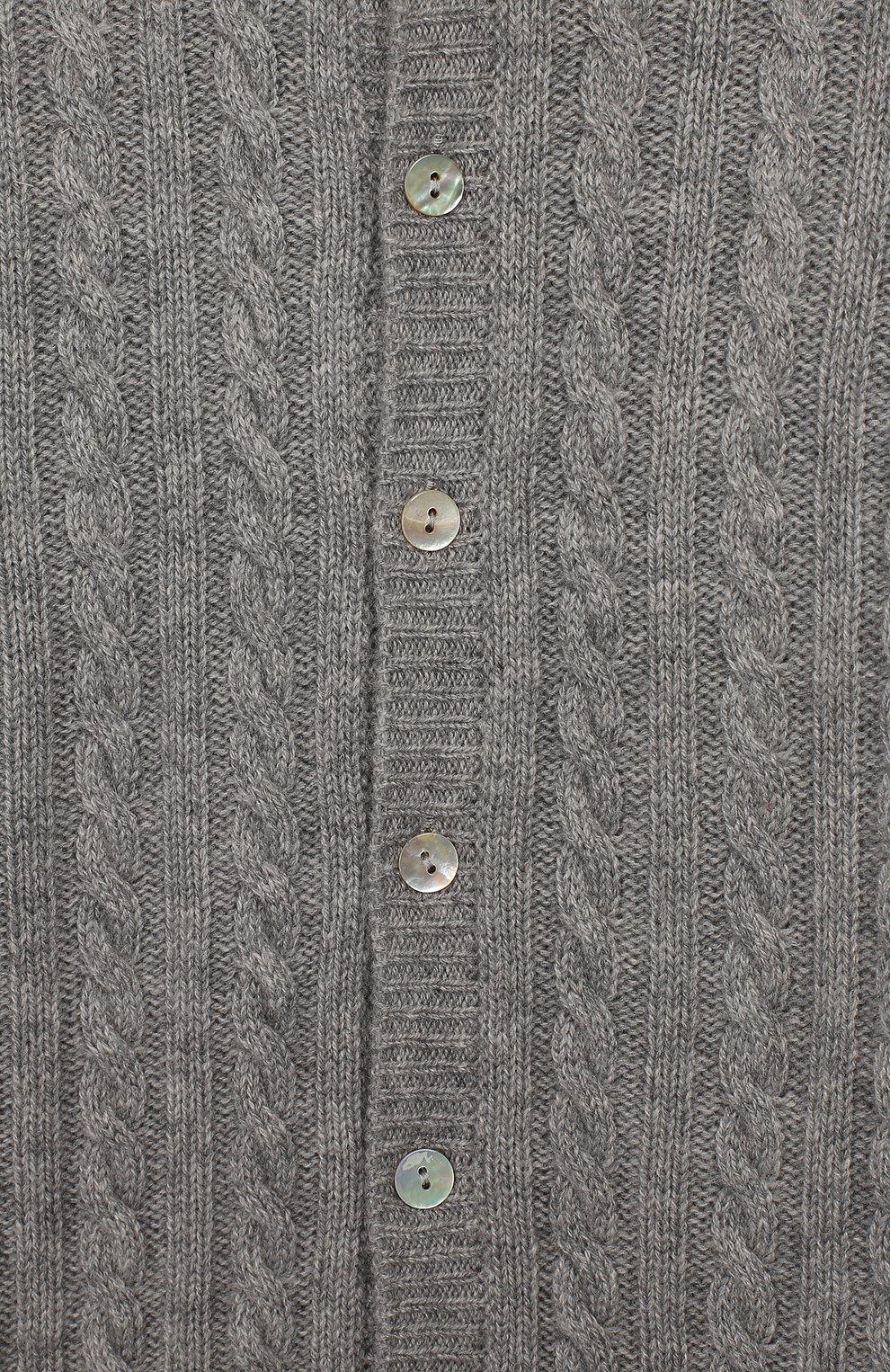 Детский кашемировый комбинезон с капюшоном LA PERLA серого цвета, арт. 59975/1M-12M | Фото 3
