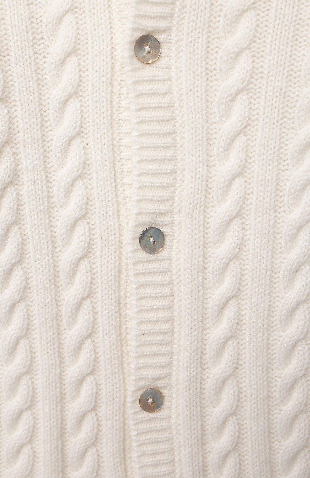 Детский кашемировый комбинезон с капюшоном LA PERLA бежевого цвета, арт. 59975/1M-12M   Фото 3