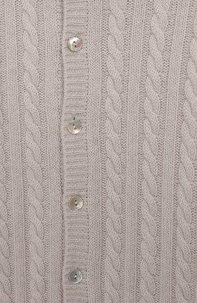 Детский кашемировый комбинезон с капюшоном LA PERLA светло-серого цвета, арт. 59975/18M-24M | Фото 3