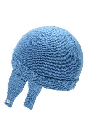 Детского шерстяная шапка MONCLER ENFANT голубого цвета, арт. E2-951-99232-05-A9111 | Фото 2