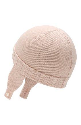 Детского шерстяная шапка MONCLER ENFANT светло-розового цвета, арт. E2-951-99232-05-A9111 | Фото 2