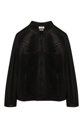 Детского кожаная куртка FENDI черного цвета, арт. JMA167/A8RC/10A-12+ | Фото 1