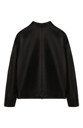 Детского кожаная куртка FENDI черного цвета, арт. JMA167/A8RC/10A-12+ | Фото 2