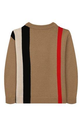 Детский шерстяной пуловер BURBERRY светло-серого цвета, арт. 8017868 | Фото 2