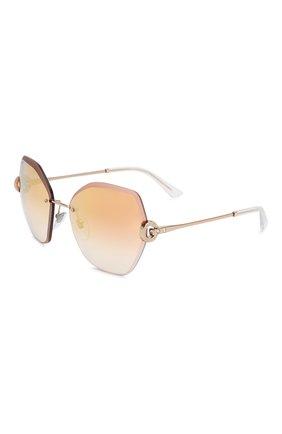 Женские солнцезащитные очки BVLGARI светло-розового цвета, арт. 6105B-20146F | Фото 1