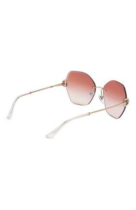Женские солнцезащитные очки BVLGARI светло-розового цвета, арт. 6105B-20146F | Фото 4