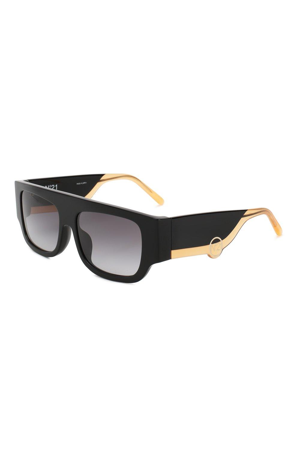 Женские солнцезащитные очки N21 черного цвета, арт. N21S36C1 SUN | Фото 1