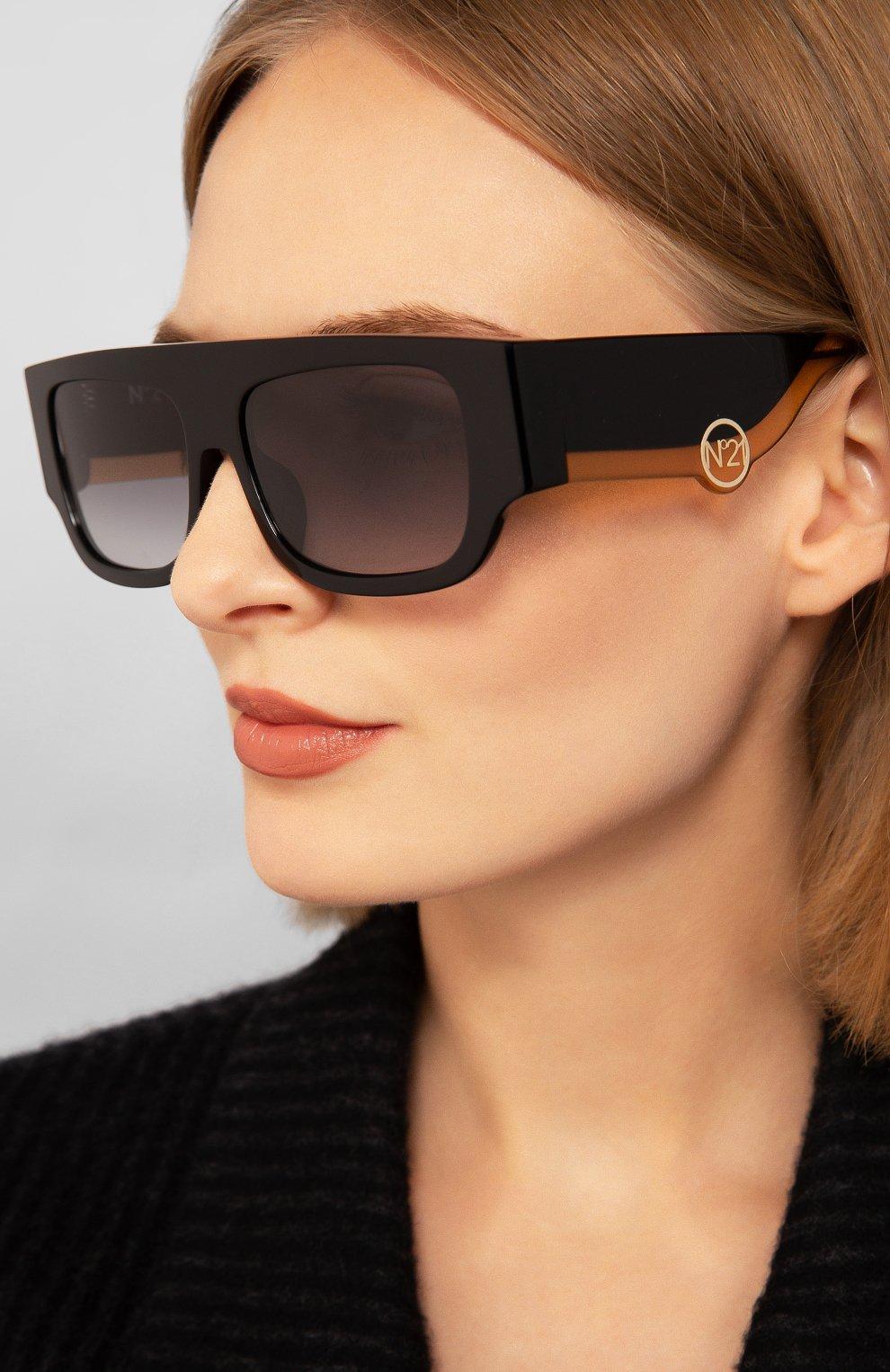 Женские солнцезащитные очки N21 черного цвета, арт. N21S36C1 SUN | Фото 2